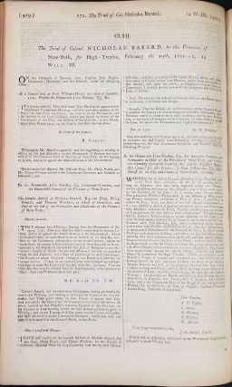 A complete collection of state-trials, and proceedings for high-treason ... the fourth edition; commencing with the eleventh year of the reign of King Richard II. and ending with the sixteenth year of the reign of King George III. ... To which is prefixed, a new preface, By Francis Hargrave. Volume the Fifth. (Odd volume). Famous Trials of Capt. Kidd & Col. Nicholas Bayard.