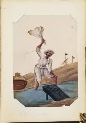 Trades of Bengal. 19th century mica paintings of Indian Trades.