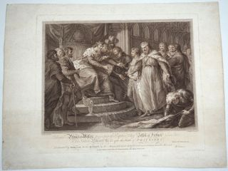 Edward, Prince of Wales, Presenting the Captive King John of France and His Son to His Father,...
