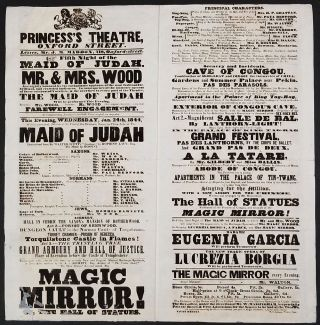 """The Magic Mirror! Or, the Hall of Statues"". Theatre broadsheet. China, Tea"