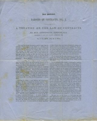 English Law and Equity Reports, published by Little, Brown and Co. Advertising letter sheet.