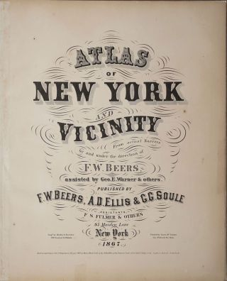 Atlas of New York and Vicinity.