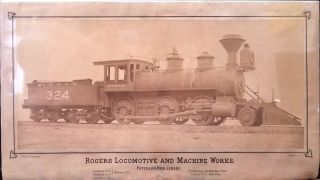 'Rogers Locomotive and Machine Works, Paterson, New Jersey.' Large Albumen photograph on...