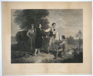 """The Capture of Major Andre."" Engraving. A. B. Durand, James., Alfred. Smillie, Jones, Robert..."