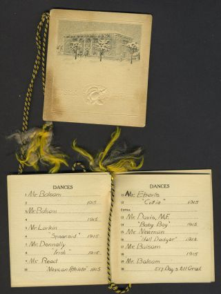 Collection of West Point Hop Cards once belonging to Ruth Hill and Ethel Hill, daughters of Manhattan Realtor Spencer Hill, with Notable Dance Partners such as Dwight D. Eisenhower.