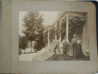 Photograph album of a turn of the century horse & buggy trip through Catskill, Lebanon &...