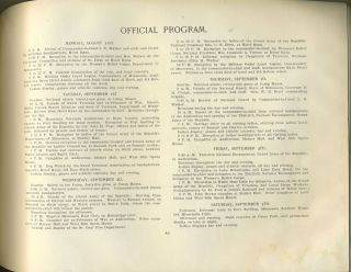 Souvenir and Official Program, 30th National Encampment, Grand Army of the Republic, St. Paul.