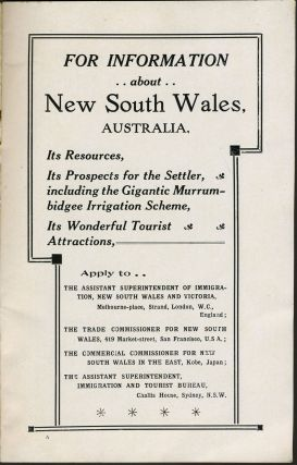 The Tourist in New South Wales, Australia. Travel guide.