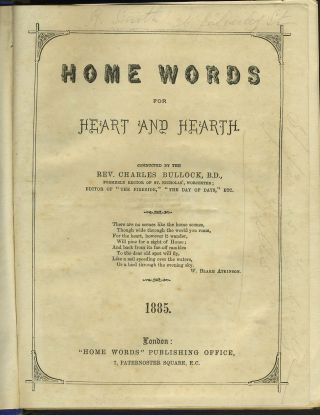 "Home Words for Heart and Hearth. St. James', Tunbridge Wells Parish Magazine, with ""View on the..."