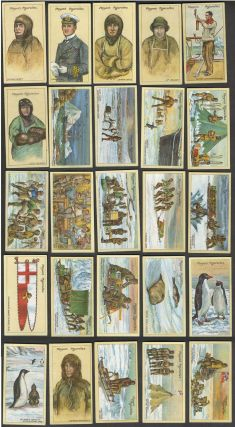 Polar Exploration. Set of 25 cigarette cards, 2nd series. Antarctic, Arctic.