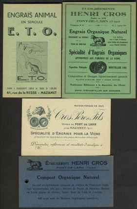 Organic Fertilizer for vineyards. French advertising cards. Wine, Agriculture