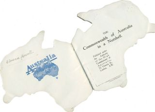 The Commonwealth of Australia in a Nutshell. Die cut shape book.