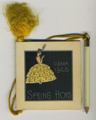 West Point Hop card, U. S. M. A. 1925 Spring Hops, extra-illustrated. West Point.