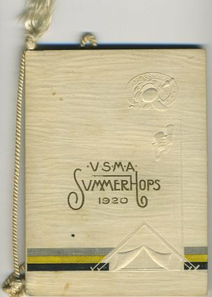West Point Hop card, U. S. M. A. Summer Hops 1920. West Point.