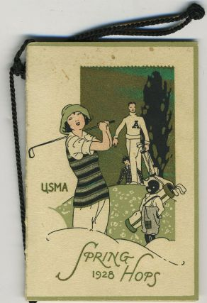 West Point Hop card, U. S. M. A. 1928 Spring Hops. West Point; Golf.