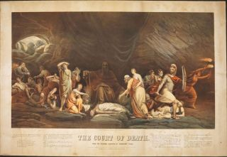 The Court of Death, From the Original Painting, by Rembrandt Peale. Chromolithograph. Rembrandt...