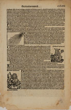 Halley's Comet and Anti-Semitism in 1493, from the Nuremberg Chronicle. Woodblock.