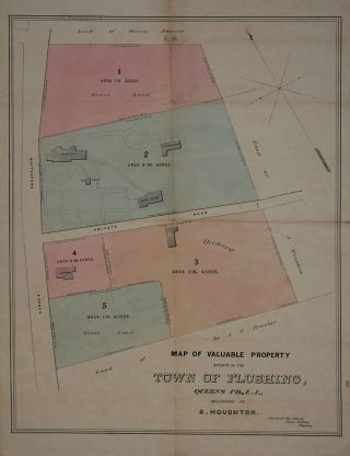 Map of Valuable Property Situate in the Town of Flushing ... Belonging to A. Houghton. Map....