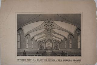 The Interior View of the Floating Church of Our Saviour for Seamen, NY.