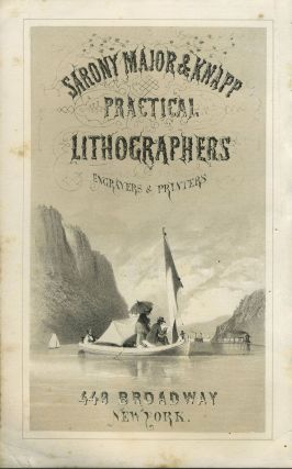 Sarony Major & Knapp Practical Lithographers, Engravers & Printers. Handbill. Hudson River View,...