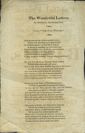 English Lottery handbill with song on verso.