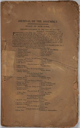Journal of the Assembly of the State of New York. Governor Daniel D. Tompkins