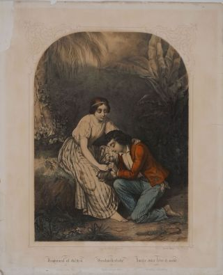 """Tenderest of Children"". Lithograph"