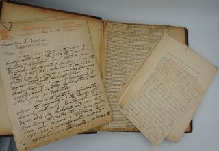 """""""Andre and Arnold"""". ALS letters to Franklin Couch regarding Andre's capture loose in binder of clipped articles on the same."""