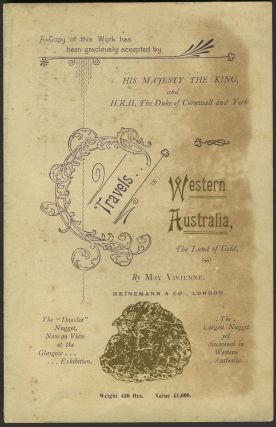 Travels in Western Australia. Prospectus. May Vivienne