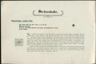 "Itinerary of the ""Denver Special"" to the 51st Annual Meeting of the American Medical Association at Denver, Colorado, June 7th - 10th 1898."