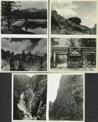 """A Collection of Choice Views of the Cody Road to Yellowstone Park"". 12 sheets with 24 real..."