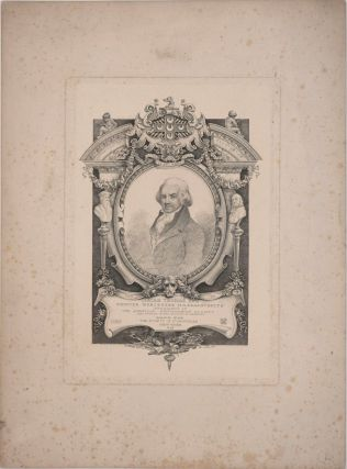 Isaiah Thomas Esq, Printer Worcester Massachusetts, President of the American Antiquarian Society and author of the History of printing. Engraved portrait.