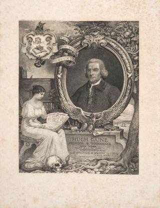 Hugh Gaine, Printer & Bookseller, New York. Engraved portrait. Society of Iconophiles