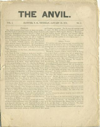 'The Anvil'. Woman's Rights article in Dartmouth College newspaper. Women, Suffrage, Victoria...