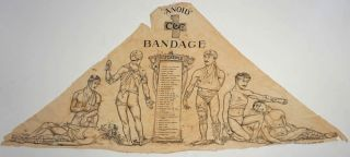 """Sanoid"" C. C. & Co. Reference Bandage. Printed illustrated bandage"