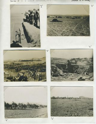 Battle of Beersheba, WWI Sinai and Palestine campaign. Photographs. Australian Light Horse, W W....