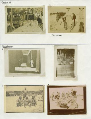 Battle of Beersheba, WWI Sinai and Palestine campaign. Photographs.