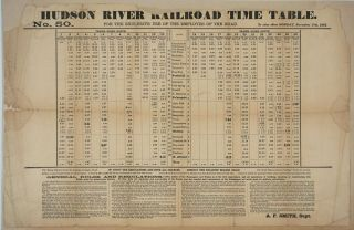Hudson River Railroad Time Table. No 50. For the Exclusive Use of the Employes (sic) of the...