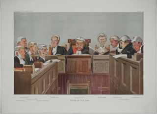 """Heads of the Law"". Double Page chromolithograph. Spy Vanity Fair"