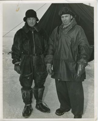 Byrd's Second Antarctic Expedition. Real photographs. Richard Byrd