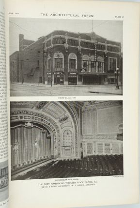 The Architectural Forum, June 1925. Vol XLII Number 6 Motion Picture Theater Reference Number. Periodical.