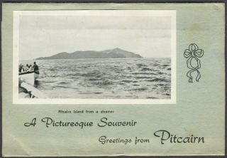 A Picturesque Souvenir Greetings from Pitcairn. Pitcairn Island