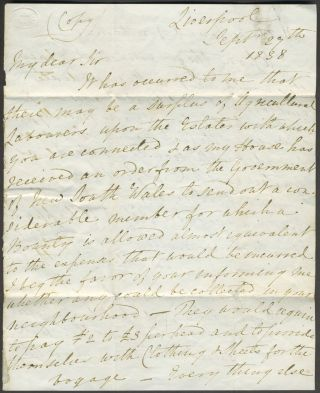 A copy letter from Newelyn Loyd of Denbigh to the Guardians of the Holywell Union (poorhouse),...