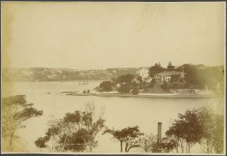 Pott's Point, Sydney. Albumen photograph. Henry King