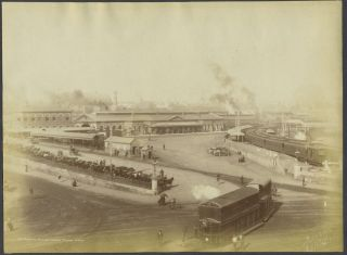 Railway Station, Redfern, Sydney. Albumen photograph. Henry King