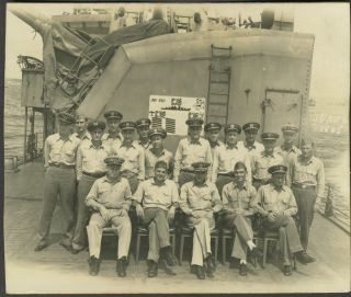 USS Bennion, South Pacific W.W.II, 100 real photographs, mostly personnel on board