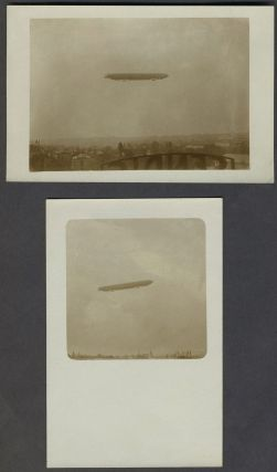 Pair of vernacular WWI Dirigible real picture postcards