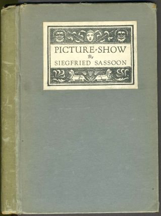 Picture Show. Signed copy. Siegfried Sassoon