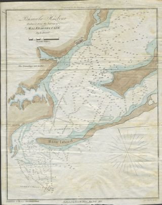 Pensacola Harbour, Reduced from the Survey of Maj. Kearney, U.S.T.E. Color map. Edmund Blunt