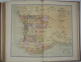 The New Atlas of Australia 1886. The complete work containing over one hundred maps and full descriptive geography of New South Wales, Victoria, Queensland, South Australia and Western Australia, together with numerous illustrations and copious indices.